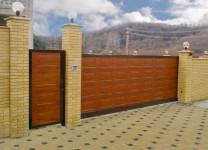 Автоматические откатные ворота Алютех
