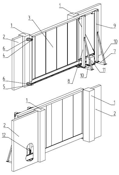 Конструкция автоматических откатных ворот