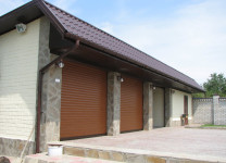 Роллетные ворота Алютех на гараж