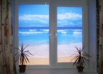 Рулонные шторы на пластиковые окна с рисунком - фото