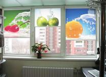 Рулонные шторы с электроприводом с фотопечатью