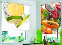 Рулонные шторы МИНИ с фотопечатью на кухне